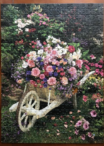 Ravensburger. Wheelbarrow of Flowers. Тачка цветов. 500. Арт. 14434 1.JPG